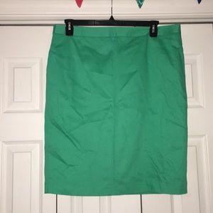 Mint green pencil skirt